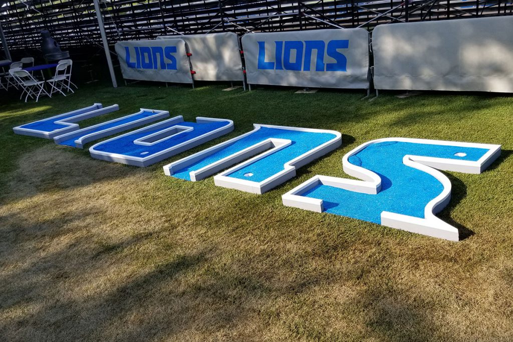Detroit Lions Mini Golf